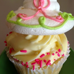 Raspberry Lemonade Gourmet Cupcake.