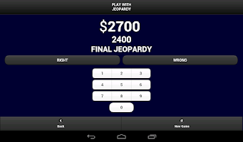 Screenshot of Play with Jeopardy!