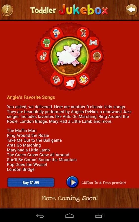 Toddler Music Jukebox:12 songs - screenshot