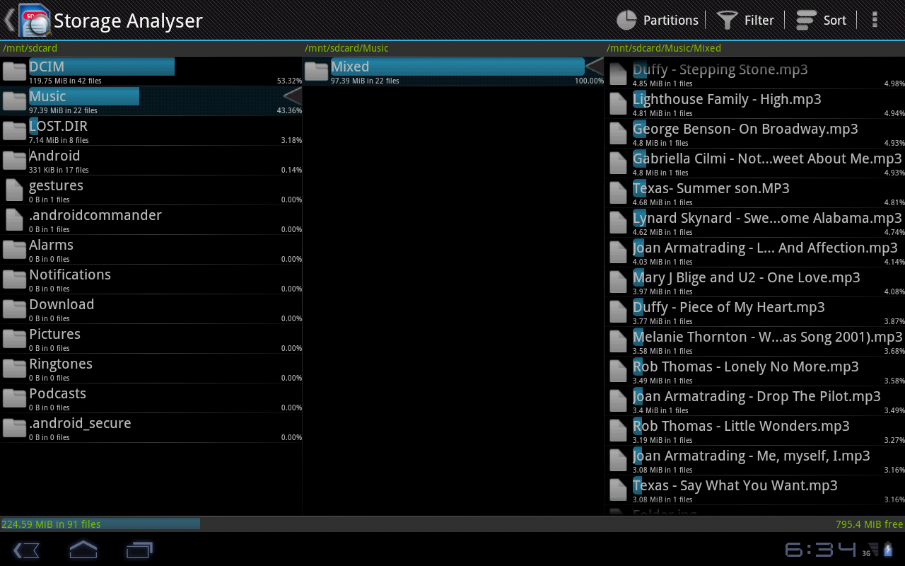 Storage Analyser - screenshot