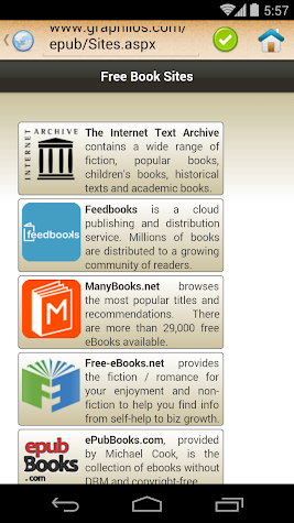 ePub Reader for Android Screenshot
