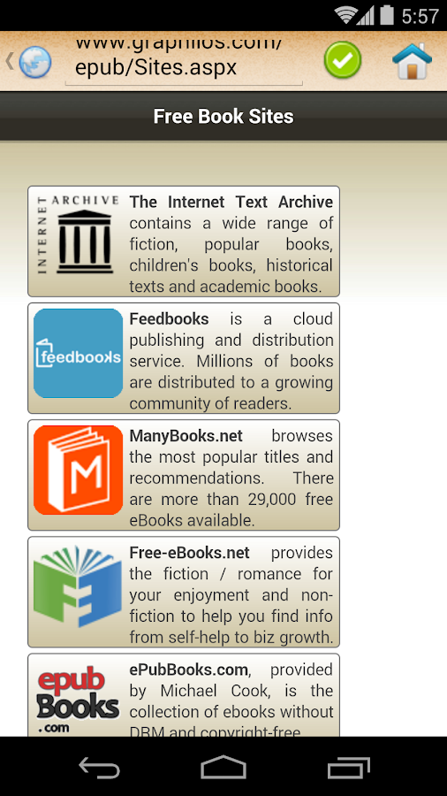 ePub Reader for Android- screenshot