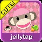 Sock Monkey Pink Go SMS Theme icon