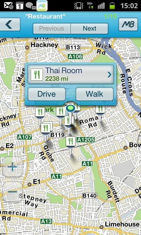 M8 free Sat Nav for UK & ROI - screenshot