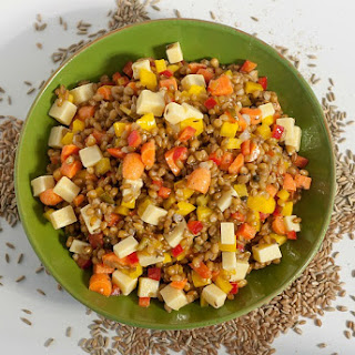 Rye Berry Salad with Mustard and Caraway Dressing