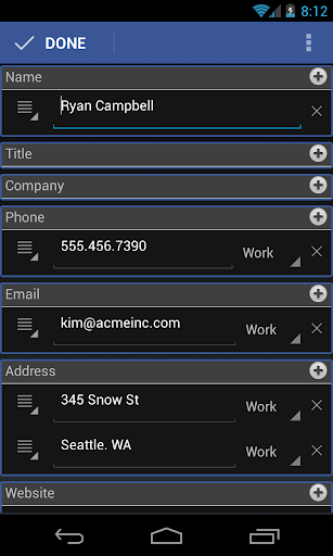 CardToContact Card Reader  screenshots 4