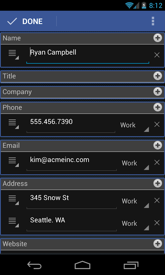CardToContact Card Reader- screenshot