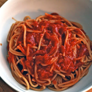 Spaghetti with Ginger Tomato Sauce