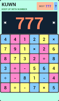 KUWN - Keep Up With Number apk screenshot