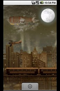 Steampunk Blimp City LWP- screenshot thumbnail