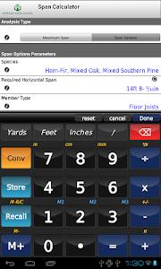 AWC Span Calc v2.0.1 (build 13)