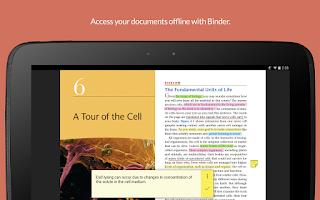 Screenshot of D2L Binder