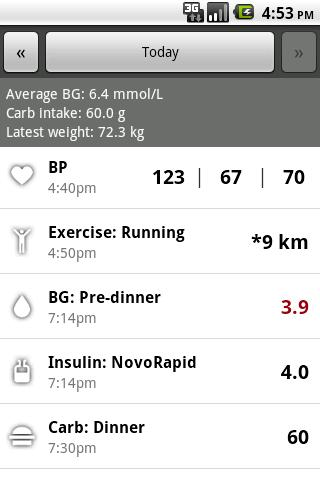 Glucool Diabetes - screenshot