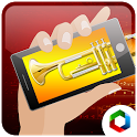 Play trumpet blowing simulator icon
