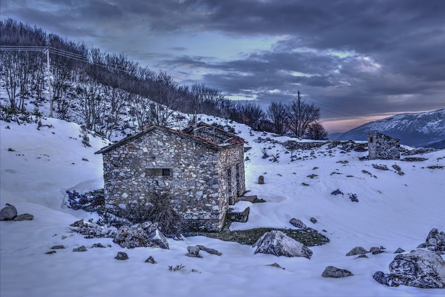 Volakas by Stratos Lales - Buildings & Architecture Decaying & Abandoned ( abandonned, old, snow, volakas, decaying )
