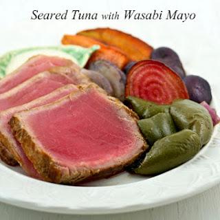 Seared Tuna with Wasabi Mayo.