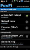 Screenshot of FoxFi (WiFi Tether w/o Root)