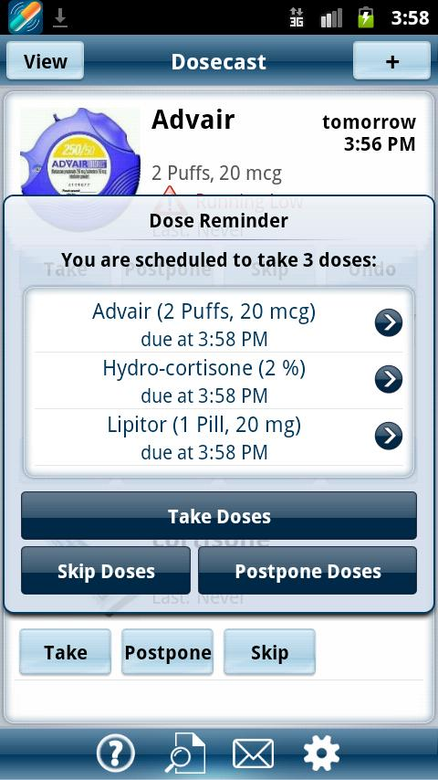 Dosecast - Medication Reminder - screenshot