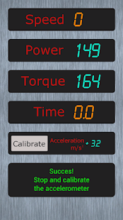 Measurement of acceleration - screenshot thumbnail