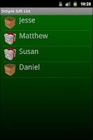 Screenshot of Simple Christmas Gift List