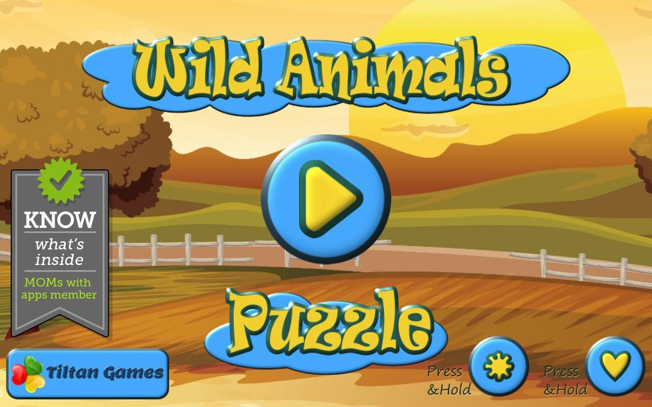 wild animals puzzles for kids android apps on google play
