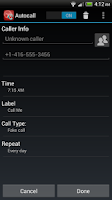 Screenshot of Autocall Free