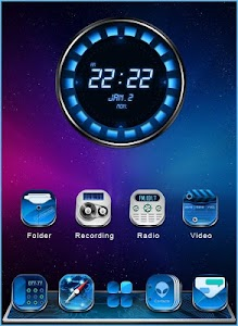 GALAXY COMET 3D LAUNCHER THEME screenshot 2