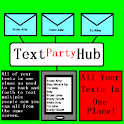 Pink Text  Message Party Hub logo