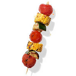Corn, Tomato and Zucchini Kebab Recipe