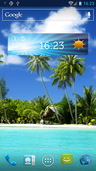 Cool Weather Clock Widgets