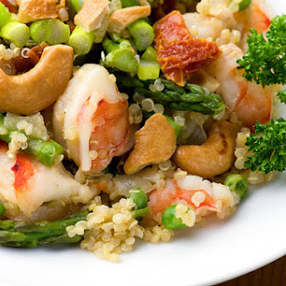 Warm Quinoa Salad with Shrimp and Asparagus