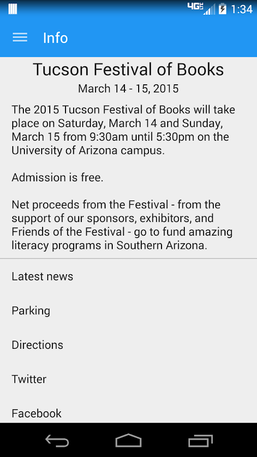 Tucson Festival of Books - screenshot