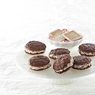 Peppermint Chocolate Sandwich Cookies.