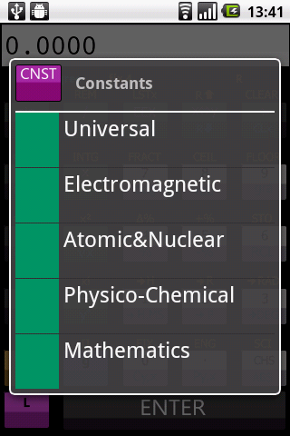 Scientific RPN calculator - screenshot