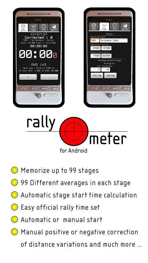 RallymeterLite - screenshot