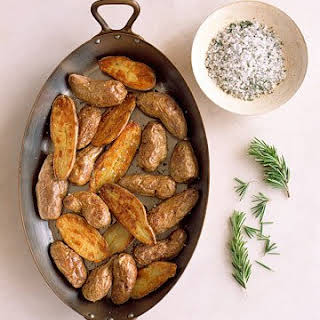 Roasted Fingerling Potatoes with Seasoned Salt.