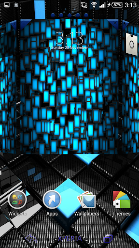 【免費個人化App】Theme eXPERIAnz SSP Blue Black-APP點子
