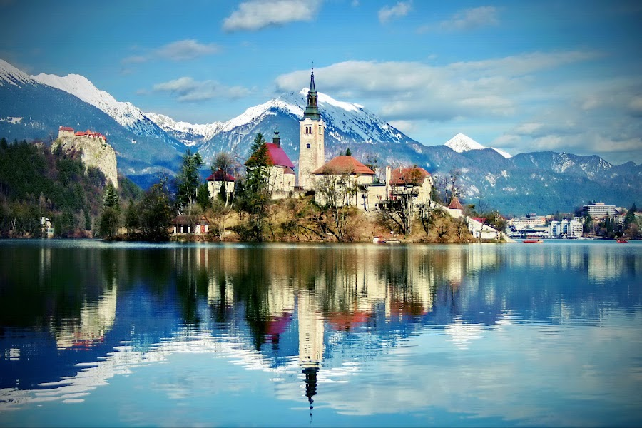 Bled,island and Assumption Church by Boštjan Henigman - Landscapes Travel ( slovenia )