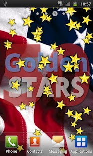 50 Golden STARS LWP US 4 July - screenshot thumbnail