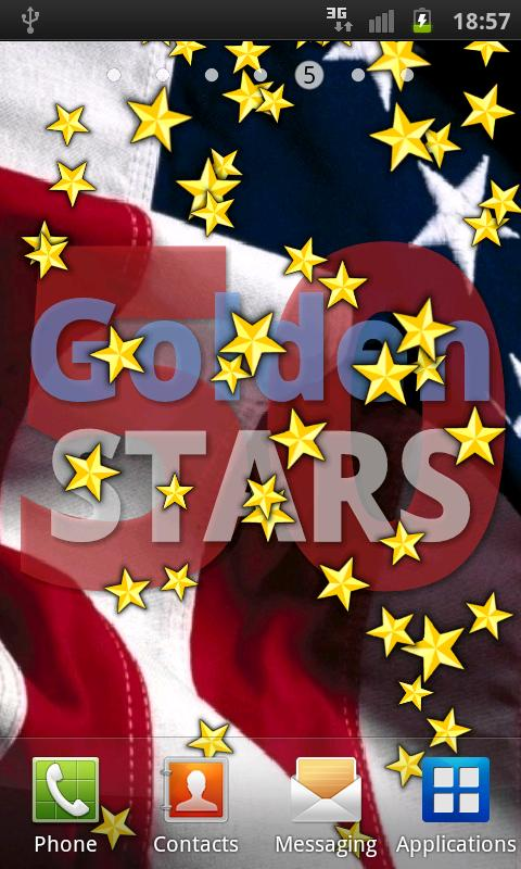 50 Golden STARS LWP US 4 July - screenshot