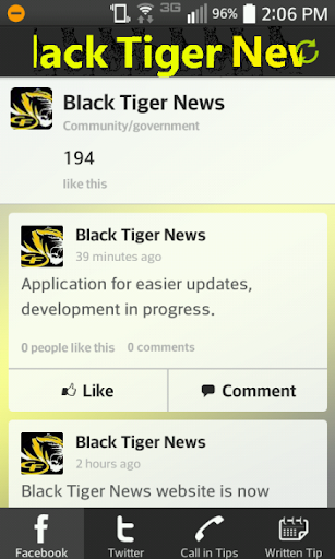 Black Tiger News