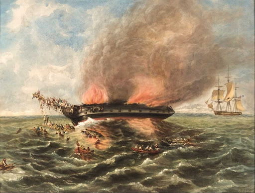 Burning of the barque INDIA