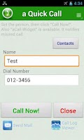 Screenshot of a Quick Call - Simple contacts