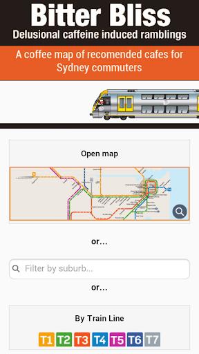 Sydney Trains Coffee Map