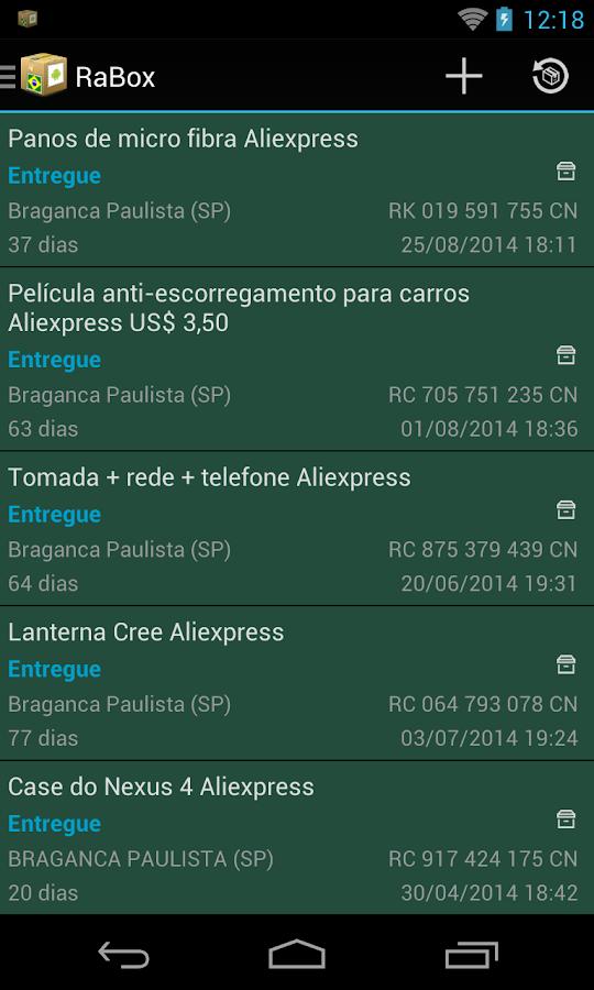 RaBox - Rastrear Correios - screenshot