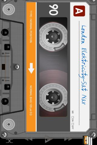 Retro Tape Deck mp3 player - screenshot