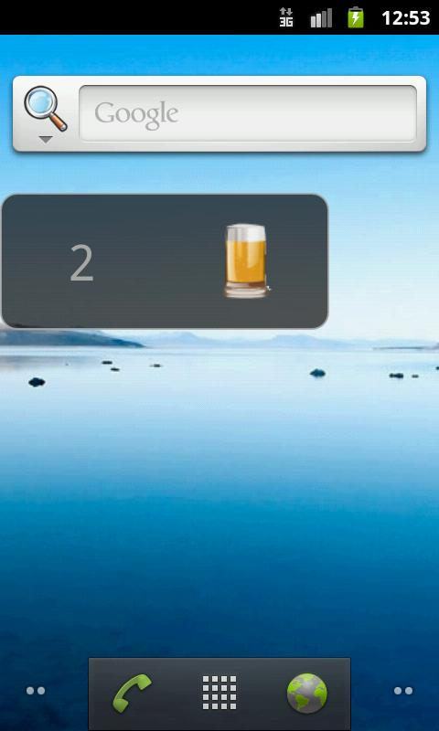 Drink Counter Widget - screenshot