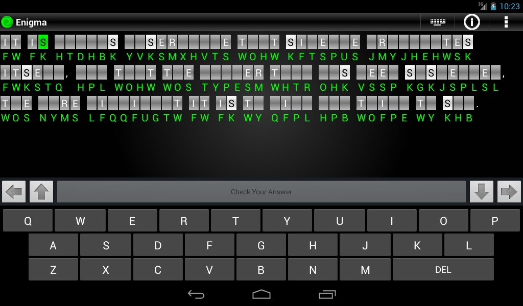 Enigma - Cryptograms - screenshot