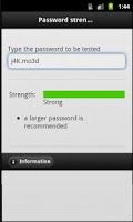 Screenshot of Password strength