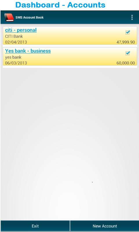 SMS Account Book (Pro) - screenshot